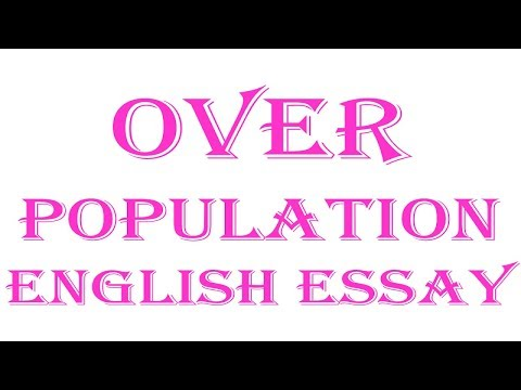 Видео Essay on overpopulation in kannada