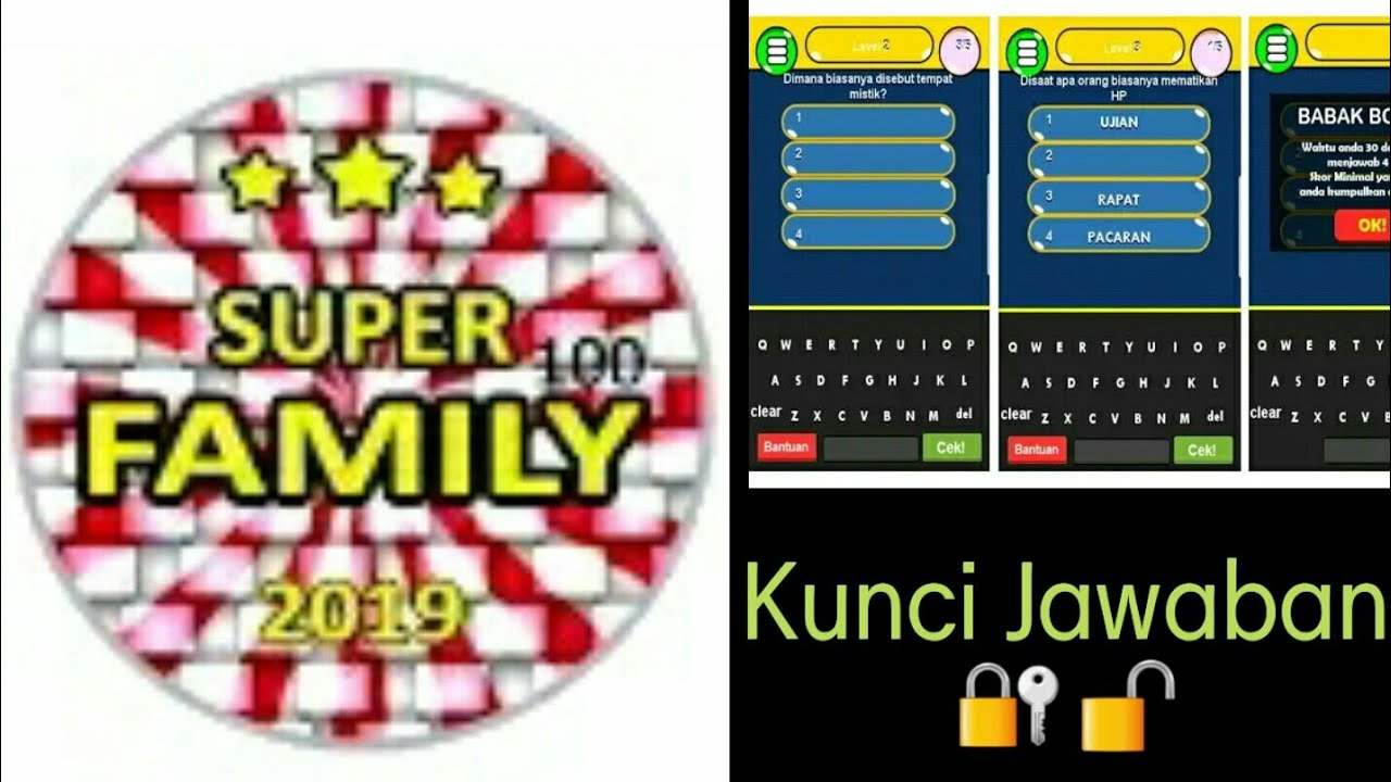 Kunci Jawaban Game New Family 100 Level 3 5 Youtube