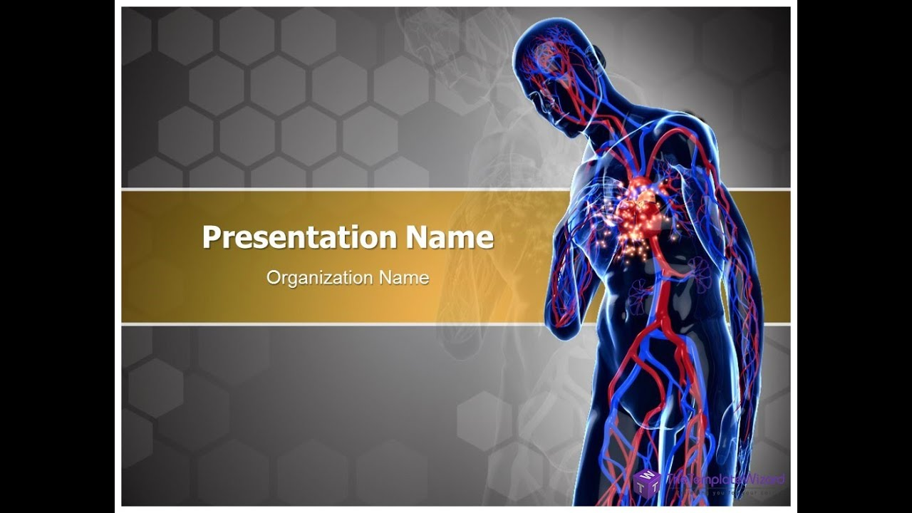 cardiac ppt template - heart attack powerpoint presentation template