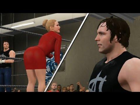 WWE 2K15 PC Mod - Lana vs Dean Ambrose (NPC of the Ring ...