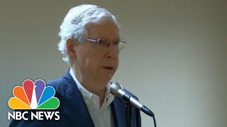 McConnell Caught Off Wнen Asked About Money For FBI Building In COVID-19 Relief Bill | NBC News NOW
