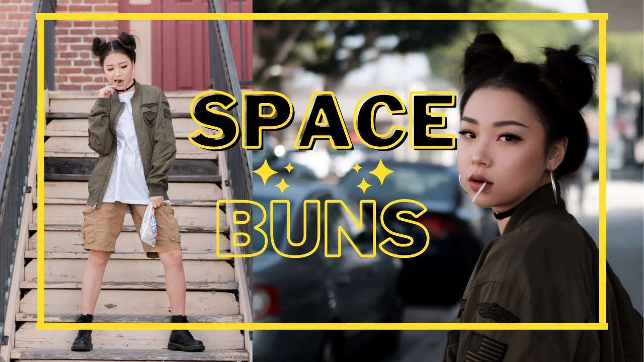 EASY SPACE BUNS FOR SHORT HAIR | HAIR TUTORIAL