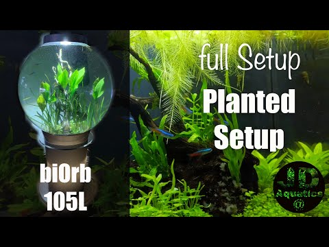 Biorb 105L Planted Tank Setup NEW