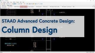 STAAD Advanced Concrete Design: Column Design