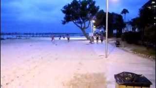 Alcudia Beach View Majorca (Mallorca) Spain Sand Sea View Night Time Summer August