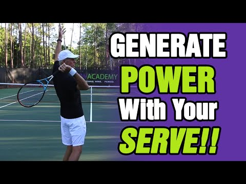 Tennis Serve Tips - How To Generate Power With Your Serve