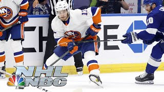 Mat barzal and ryan pulock strike offensively, while semyon varlamov makes 30 saves, as the islanders capture a 2-1 win in game 1 jump out to 1-0 serie...