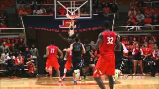 Illinois Basketball vs Chicago State Highlights 11/22/13