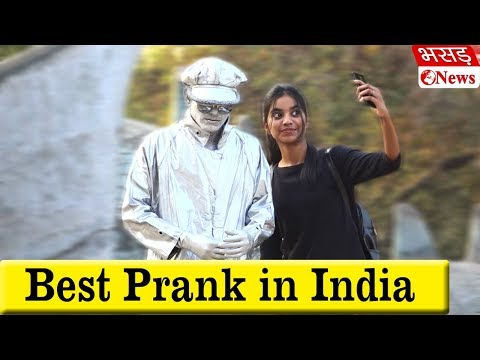 Statue Prank With Girls | Bhasad News | Pranks In India