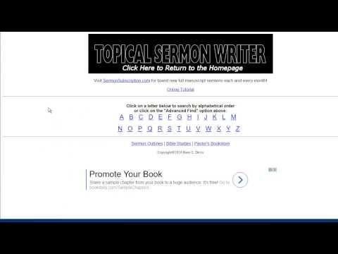 Topical Sermon Writer Tutorial