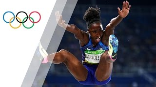 The USA's Bartoletta wins gold in women's long jump