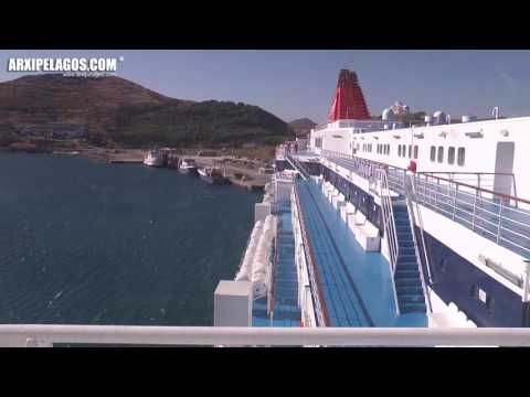 NISSOS SAMOS - arrival at the port of Lemnos