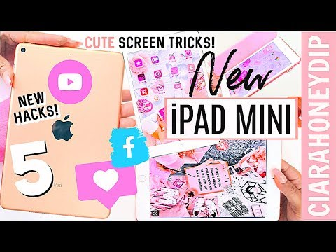 IPad Mini Unboxing! 256 Wifi + Cellular | How To Make Your Apps PINK