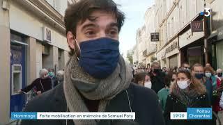 Niort : mobilisation pour Samuel Paty, le professeur d'histoire-géo décapité dans les Yvelines