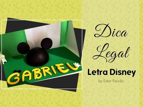 Diy Letras de biscuit sem molde - Letras Disney