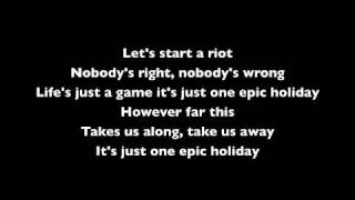 angels airwaves epic holiday with lyrics