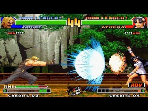 Rugal Kaiser Wave vs Athena KOF 98