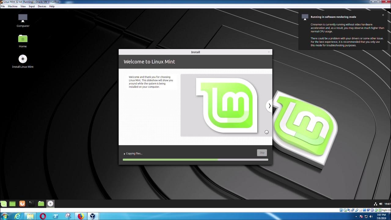 Virtualbox Linux Mint
