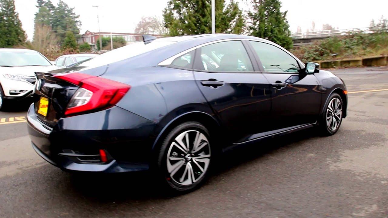 2016 honda civic ex t cosmic blue youtube for 2016 honda civic ex t review