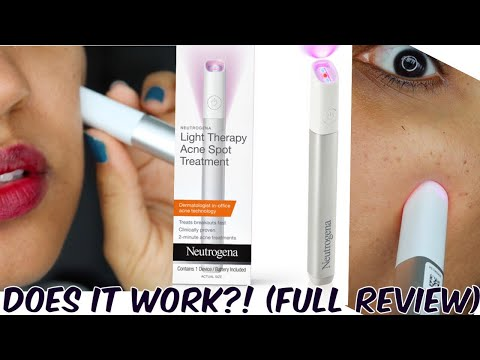 Testing Neutrogena Light Therapy Pen For Acne Is It Worth It Does It Really Work Youtube
