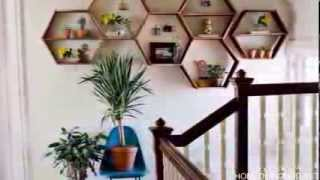 A Diy Project That Makes You Smile  The Honeycomb Shelves