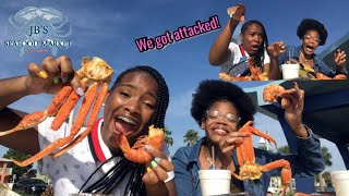 Snow Crab Seafood Boil Mukbang ft Jb's Seafood Market + Birds Attack our Food!