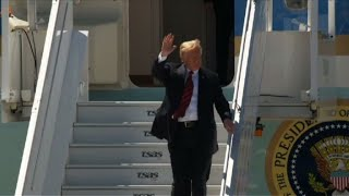 Trump arrives in Canada for G7 summit