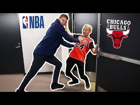 SNEAKED into NBA COURT 😅 (TROUBLE)
