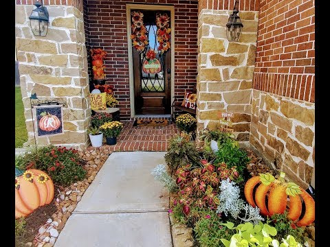 Fall Autumn Home Tour | Part 1 Front Porch and Walkway