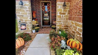 Fall Autumn Home Tour   Part 1 Front Porch and Walkway