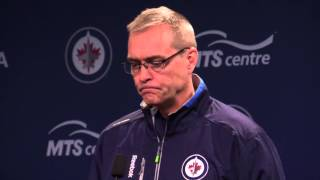New Jets coach Paul Maurice after first practice