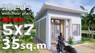 Small House Design 5x7 Meters  35sq.m