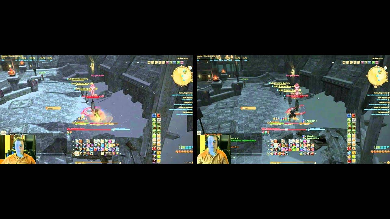 FF14 PLD lvl 60 rotation with warrior comparison
