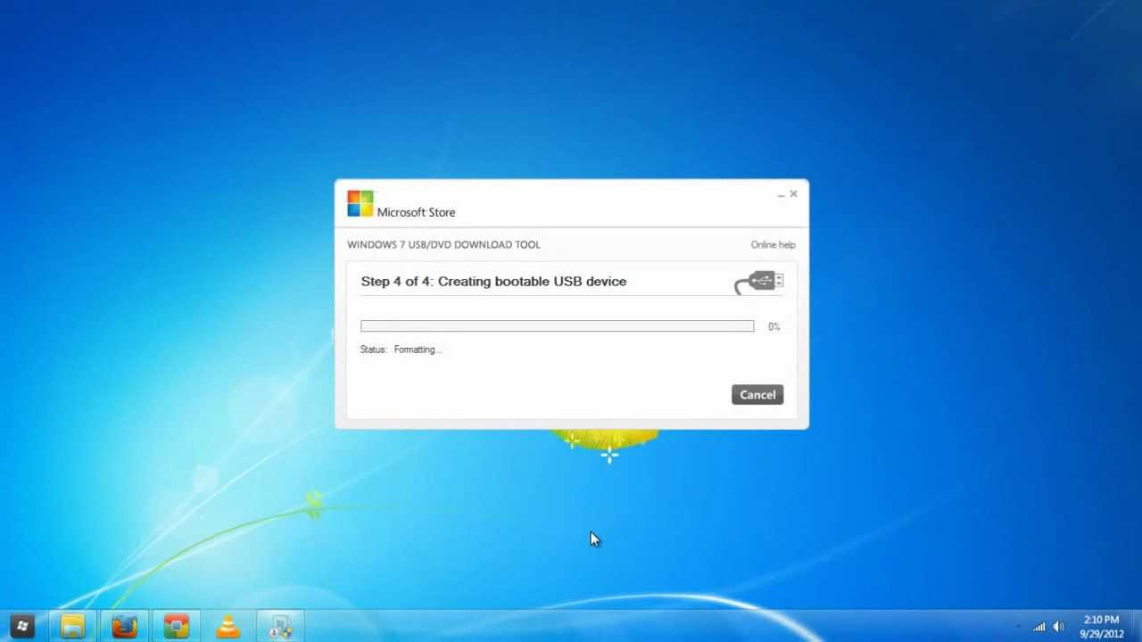 how to install a flash drive on windows 7