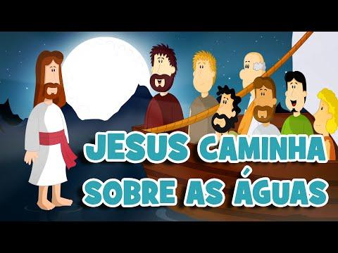 Desenho Os Milagres de Jesus | Jesus Caminha sobre as Águas