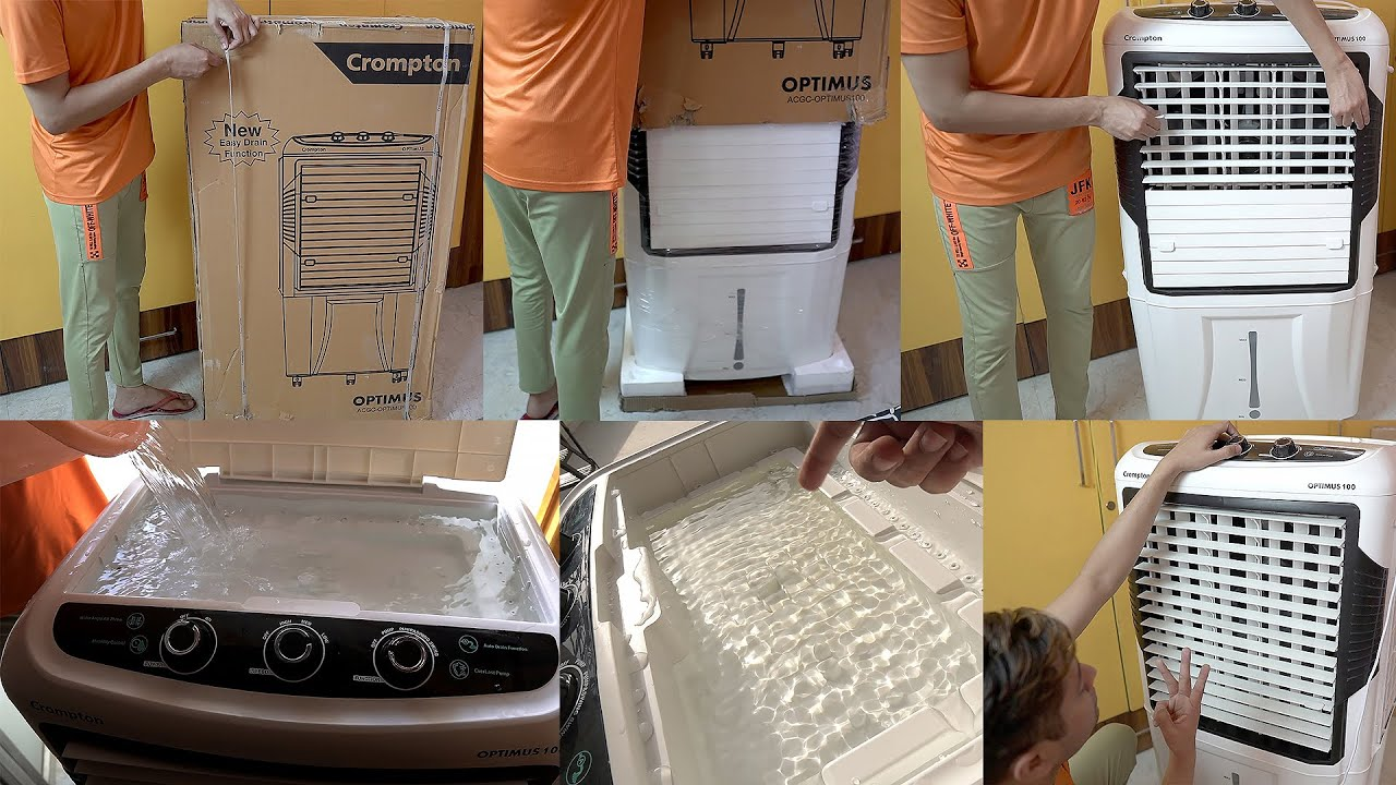 Crompton Optimus 100 ltr Desert Air Cooler Unboxing Review Setup & Test   Honest and in depth review