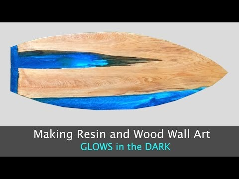 Making Wood and Resin Surfboard Wall Art that GLOWS // How To