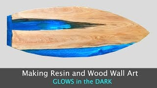 Making Epoxy Resin and Wood Wall Art // Glow in the Dark Table