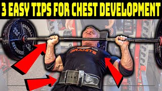3 Easy Tips T๐ Improve Chest Development (DO THIS......NOW)