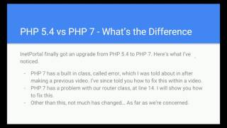 How to Build a PHP Framework Part 9.5: Changes In My Environment