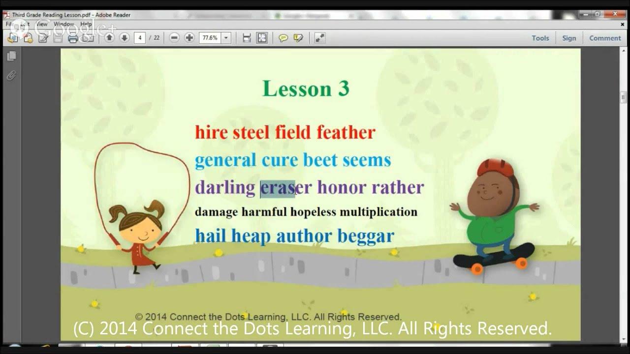 Worksheet Third Grade Reading Lessons third grade reading lesson 3 fullerton learning centers youtube centers