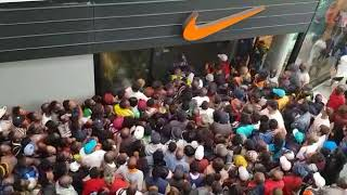 Black Friday in South Africa, stampede Nike store East Rand Mall