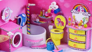 DIY Miniature Dollhouse ~ Unicorn Bathroom Decor #48