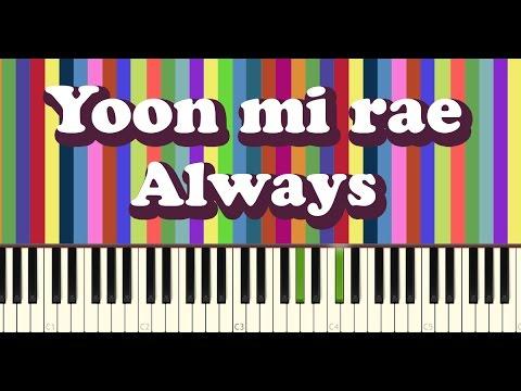 윤미래(yoon Mi Rae) - Always Piano Cover 태양의후예 OST