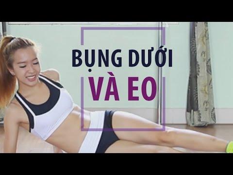 Eo thon bụng phẳng bài tập bụng dưới và eo | Hana Giang Anh | Workout #12