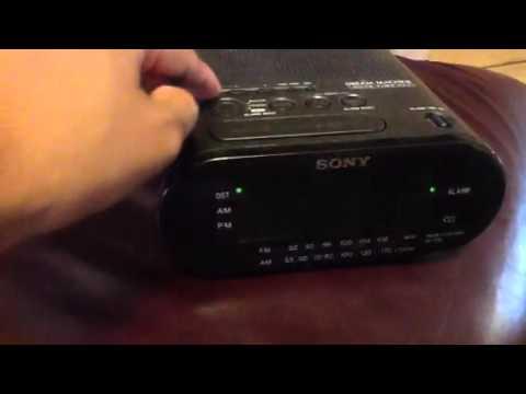 sony alarm clock radio manual