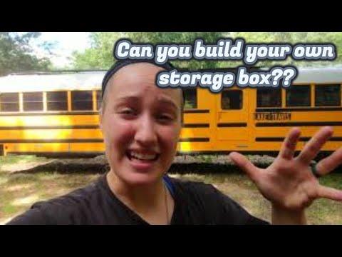 DIY Under Bus Storage Boxes Part 1 *Skoolie Conversion* Gus The Struggle Bus