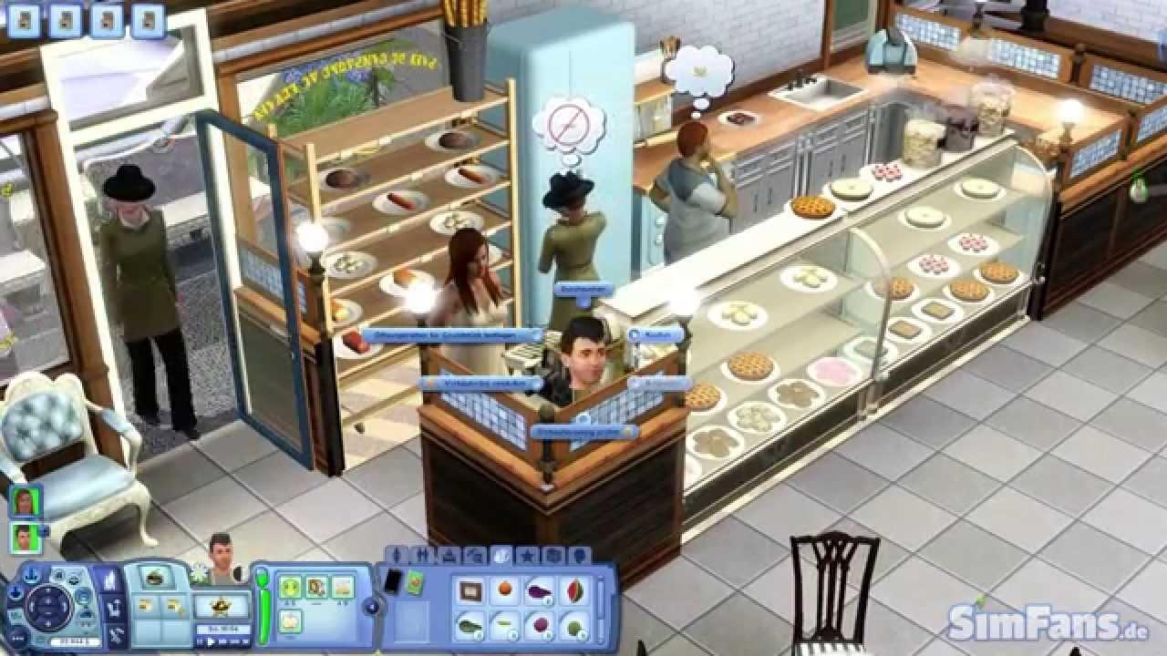 Let 39 s play die sims 3 b ckerei youtube for Sims 4 dach bauen