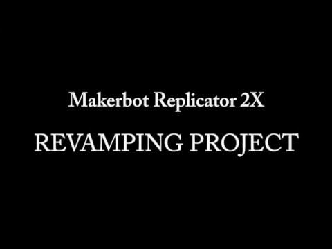 Makerbot Replicator 2 2X Mod - STEP1 Upgrade: Aluminium Z-axis, Glass Build Plate, Sailfish Firmware