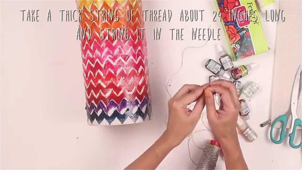 Colourful Diwali Lantern In Jute Fabric - YouTube